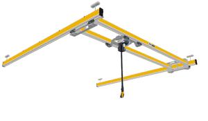 ilustração da ponte rolante de dupla viga para baixa altura ZHB-X