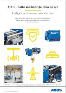 catálogo da talha elétrica de cabo modular da ABUS