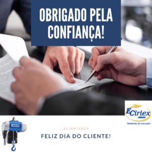 Feliz Dia do cliente da Ciriex ABUS