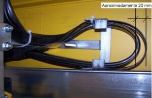 Espaçamento dos cabos