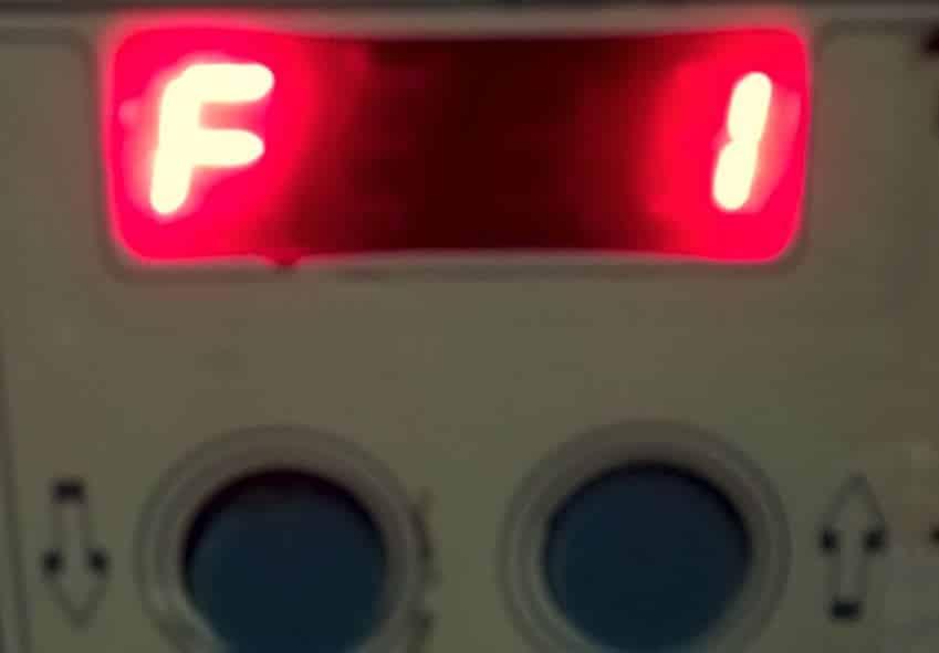 Mensagem de erro F1 no LIS-SV