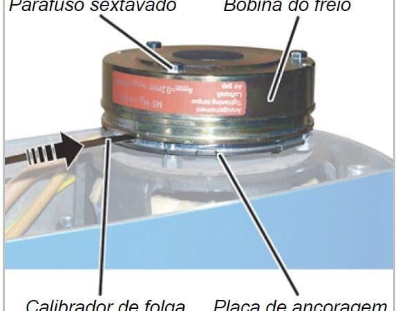 Sistema de freio talha de corrente Abus