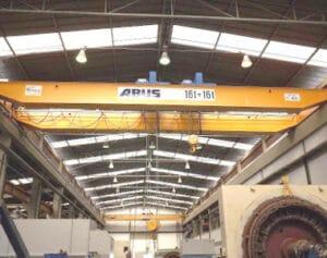 Projetos: ponte rolante ABUS com duas talhas de cabo na Semage